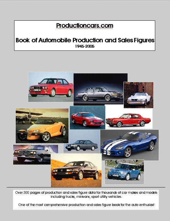 Car Production Numbers Book